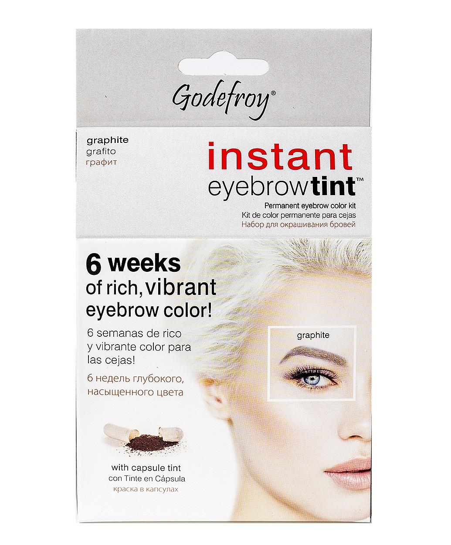 GODEFROY Краска-хна в капсулах для ресниц и бровей, набор (графит) 15 шт. / Godefroy Eyebrow Tint Graphite