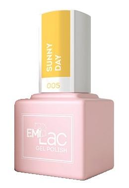 Купить E.MI 005 гель-лак для ногтей, Солнечный день / E.MiLac 6 мл, Желтые