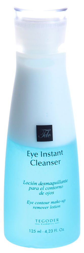 TEGOR Средство для быстрого очищения глаз / Eye Instant Cleanser EYE CARE 125млЛосьоны<br>Средство Tegor не только подарит вашей коже необыкновенное ощущение свежести, чистоты и комфорта, но и сделает ее более мягкой, гладкой, упругой и эластичной. Средство для быстрого очищения &amp;laquo;Eye instant cleanser&amp;raquo; представляет собой высокоэффективное двухфазное средство, разработанное в лабораториях испанской компании Tegor для деликатного очищения кожи контура глаз от макияжа (в том числе водостойкого) и разного рода загрязнений. Одним из основных компонентов средства Тегор является экстракт гинкго билоба, который славится своим противовоспалительным действием, укрепляет стенки капилляров, способствует улучшению кровообращения, нейтрализует действие свободных радикалов. Активный состав: Экстракт иглицы, экстракт черники, экстракт гинкго билоба. Способ применения: Нанесите необходимое количество средства Тегор на ватный диск и аккуратно протрите им кожу контура глаз.<br><br>Объем: 125