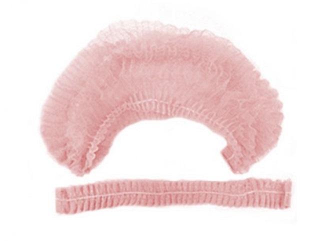 IGROBEAUTY Шапочка Шарлотта НМ, одинарная резинка, цвет розовый 100 шт