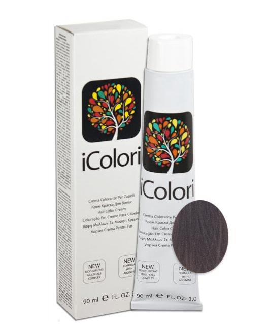 KAYPRO 7.18 краска для волос, ледяной шоколадный блондин / ICOLORI 90 мл фото