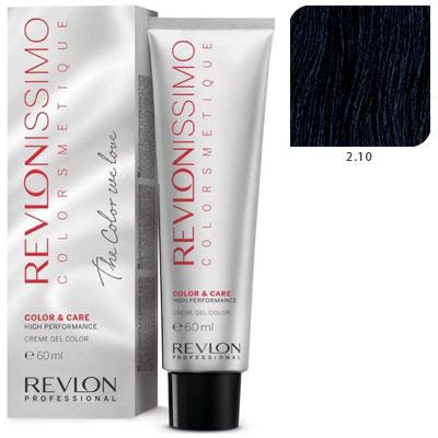 REVLON Professional 2.10 краска для волос, черный насыщенно пепельный / RP REVLONISSIMO COLORSMETIQUE 60 мл revlon краситель перманентный 7 44 блондин гипер медный rp revlonissimo colorsmetique 60 мл