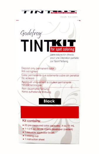 GODEFROY Краска-хна в капсулах для бровей, набор проф (черный) (L) / Godefroy PRO KIT Black