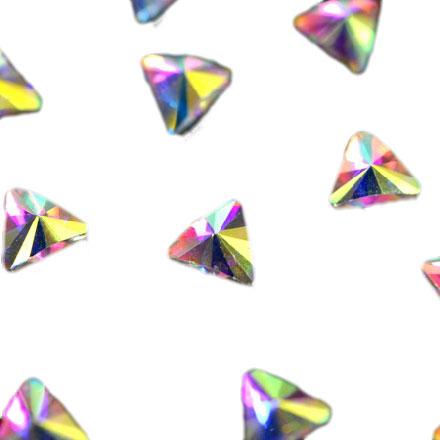 PATRISA NAIL Стразы фигурные Треугольник супер-голография 5 мм 10 шт  - Купить