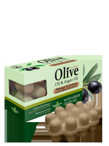 MADIS Мыло массажное с маслом арганы для пилинга против целлюлита / HerbOlive 100 г