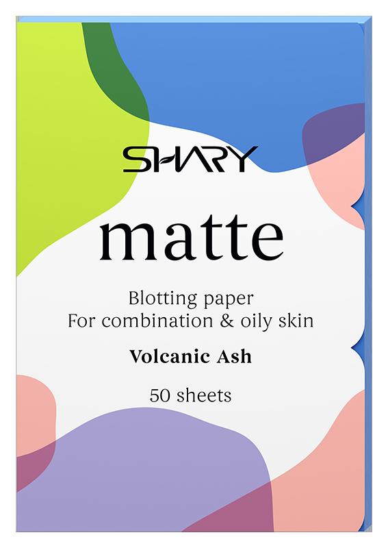 Купить SHARY Салфетки матирующие для комбинированной и жирной кожи Вулканический пепел 50 шт