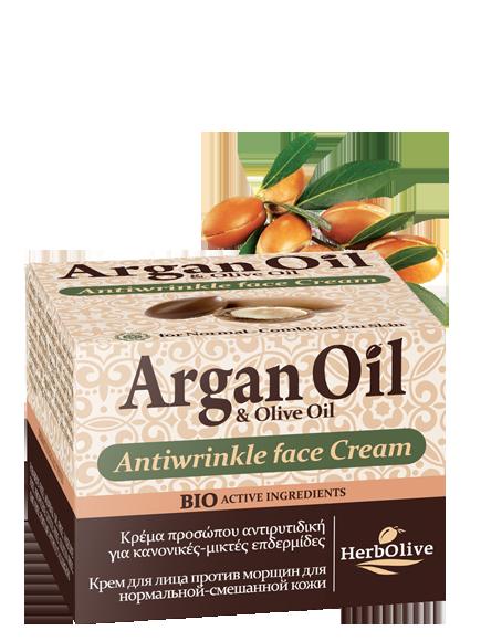 MADIS Крем для лица против морщин для нормальной и комбинированной кожи / ArganOil 50 мл