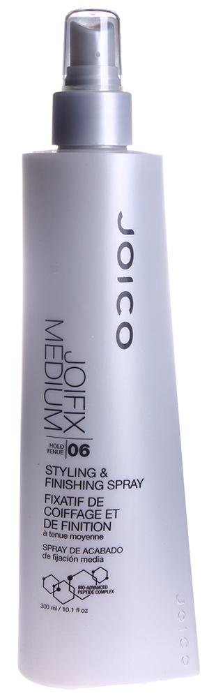 JOICO Спрей неаэрозольный средней фиксации (фиксация 6) / STYLE &amp; FINISH 300млЛаки<br>Надежно фиксирует уложенные волосы и защищает их от воздействий окружающей среды и влажности. Создает защиту от УФ-лучей. Способ применения: распылите на влажные волосы для укладки. Распылите на сухие уложенные волосы с расстояния 20-30 см для придания им окончательной формы и дополнительной фиксации.<br>