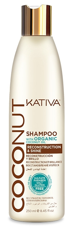 Купить KATIVA Шампунь восстанавливающий с органическим кокосовым маслом для поврежденных волос / COCONUT 250 мл