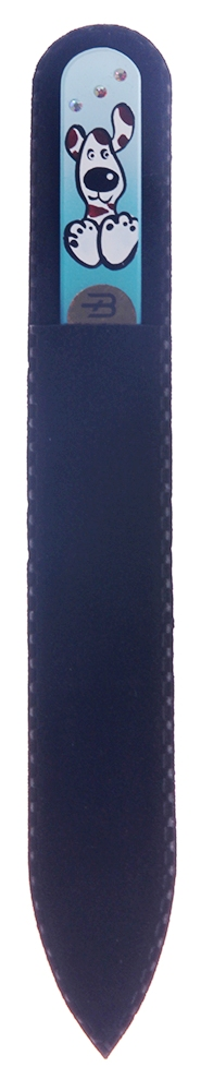 BOHEMIA PROFESSIONAL Пилочка стеклянная цветная с рисунком и кристаллами 135мм