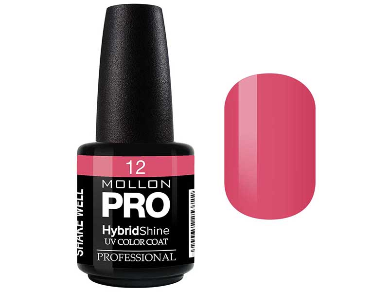 MOLLON PRO Гель-лак для ногтей УФ / HybridShine UV Color Coat  12 15мл