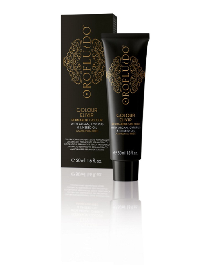 OROFLUIDO 5-34 краска для волос, светло-медный золотистый шатен / OROFLUIDO COLOR 50 мл orofluido краска для волос 50 мл 54 оттенка 7 34 средний золотисто медный блондин 50 мл