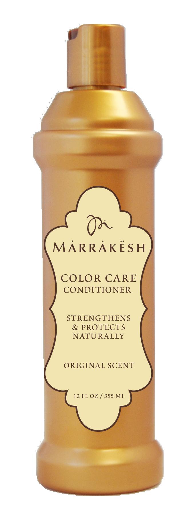 MARRAKESH Кондиционер для окрашенных волос / Marrakesh Color Care Conditioner Original 355 млКондиционеры<br>Кондиционер для окрашенных волос Marrakesh блокирует влагу внутри волоса, благодаря комбинации натуральных ингредиентов, специально разработанных для защиты цвета окрашенных волос. Подходит для ежедневного применения на окрашенных или осветленных волосах. Делает волосы мягкими, шелковистыми и блестящими. Способ применения: равномерно распределить небольшое количество кондиционера по всей длине чистых влажных волос. Оставить на 2-3 минуты. Смыть водой.<br><br>Объем: 355 мл<br>Типы волос: Окрашенные