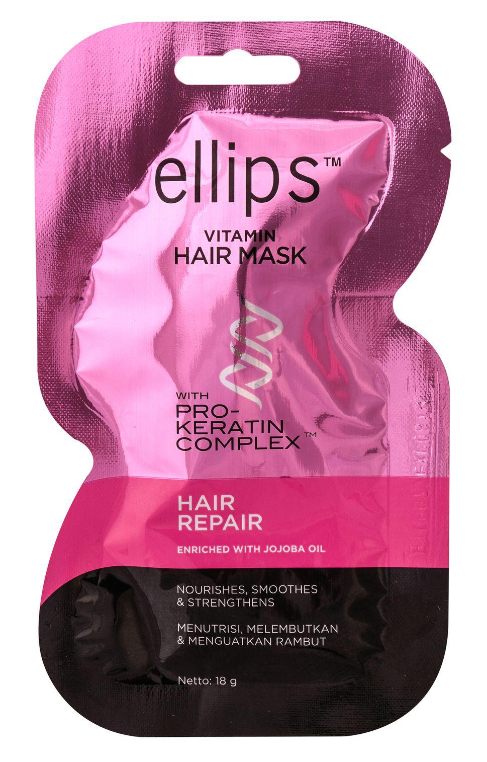 ELLIPS Маска для восстановления сильно поврежденных волос / Pro-Keratin Hair Repair 18 г  - Купить