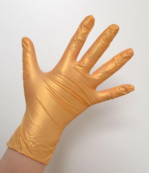Купить SAFE & CARE Перчатки нитриловые золотистые L Safe & Care 100 шт