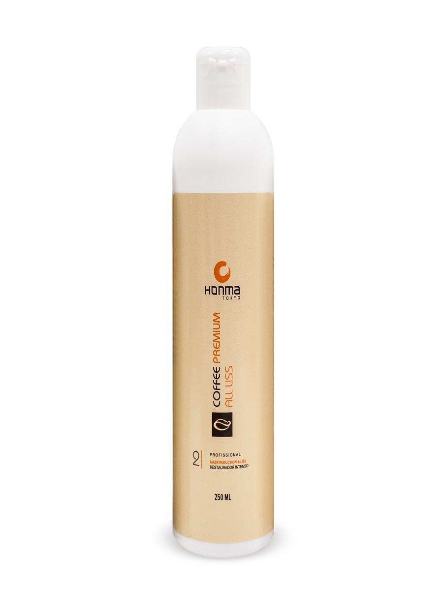 HONMA TOKYO Кератин для волос, максимальное восстановление и выпрямление для волос с сильным завитком / Coffee Premium All Liss 250 мл - Кератин