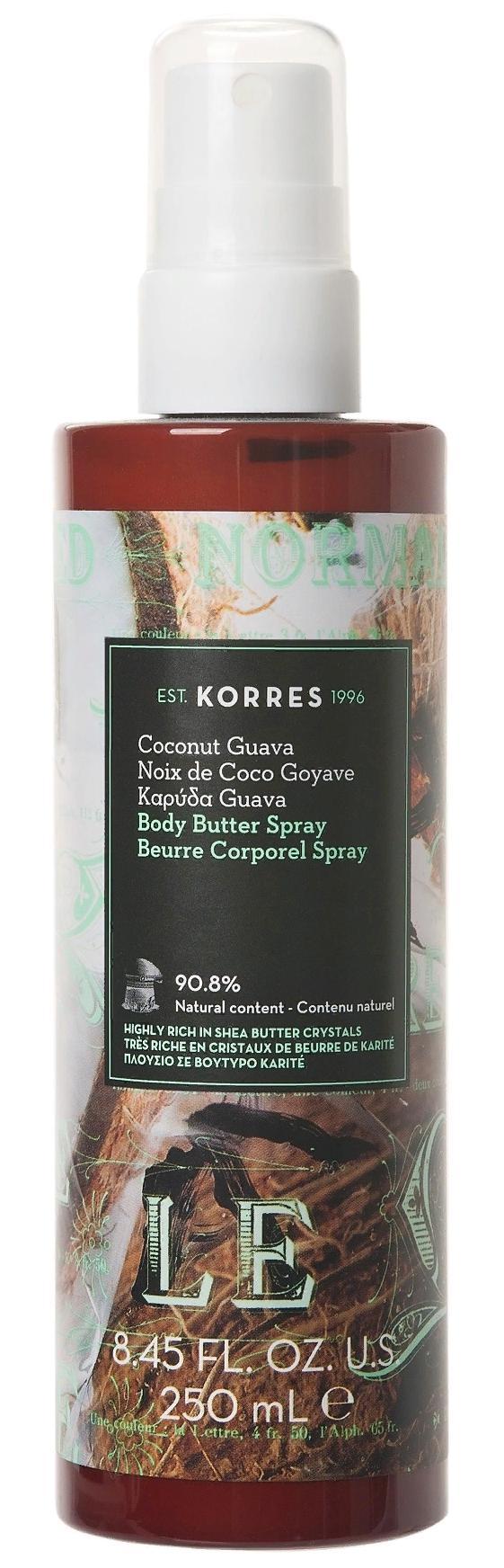 KORRES Молочко-спрей для тела, кокос и гуава 250 мл