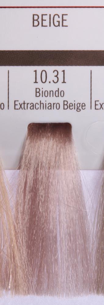 BAREX 10.31 краска для волос / PERMESSE 100млКраски<br>Оттенок: Экстра светлый блондин бежевый. Профессиональная крем-краска Permesse отличается низким содержанием аммиака - от 1 до 1,5%. Обеспечивает блестящий и натуральный косметический цвет, 100% покрытие седых волос, идеальное осветление, стойкость и насыщенность цвета до следующего окрашивания. Комплекс сертифицированных органических пептидов M4, входящих в состав, действует с момента нанесения, увлажняя волосы, придавая им прочность и защиту. Пептиды избирательно оседают в самых поврежденных участках волоса, восстанавливая и защищая их. Масло карите оказывает смягчающее и успокаивающее действие. Комплекс пептидов и масло карите стимулируют проникновение пигментов вглубь структуры волоса, придавая им здоровый вид, блеск и долговечность косметическому цвету. Активные ингредиенты:&amp;nbsp;Сертифицированные органические пептиды М4 - пептиды овса, бразильского ореха, сои и пшеницы, объединенные в полифункциональный комплекс, придающий прочность окрашенным волосам, увлажняющий и защищающий их. Сертифицированное органическое масло карите (масло ши) - богато жирными кислотами, экстрагируется из ореха африканского дерева карите. Оказывает смягчающий и целебный эффект на кожу и волосы, широко применяется в косметической индустрии. Масло карите защищает волосы от неблагоприятного воздействия внешней среды, интенсивно увлажняет кожу и волосы, т.к. обладает высокой степенью абсорбции, не забивает поры. Способ применения:&amp;nbsp;Крем-краска готовится в смеси с Молочком-оксигентом Permesse 10/20/30/40 объемов в соотношении 1:1 (например, 50 мл крем-краски + 50 мл молочка-оксигента). Молочко-оксигент работает в сочетании с крем-краской и гарантирует идеальное проявление краски. Тюбик крем-краски Permesse содержит 100 мл продукта, количество, достаточное для 2 полных нанесений. Всегда надевайте подходящие специальные перчатки перед подготовкой и нанесением краски. Подготавливайте смесь крем-краски и молочка-оксигента Permes