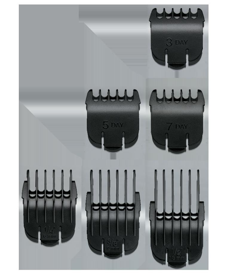ANDIS Набор насадок для BTF (T-нож) 1.6 мм (3 д.), 2.4 мм (5 д.), 3 мм (7 д.), 6 мм, 10 мм, 13 мм