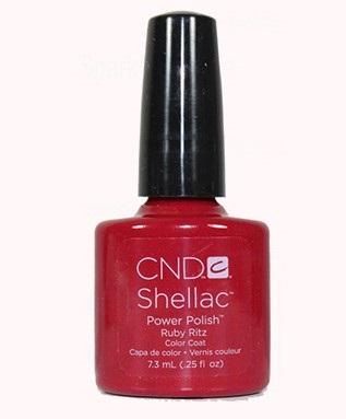 CND 91030 покрытие гелевое / Ruby Ritz SHELLAC 7,3 мл - Гель-лаки