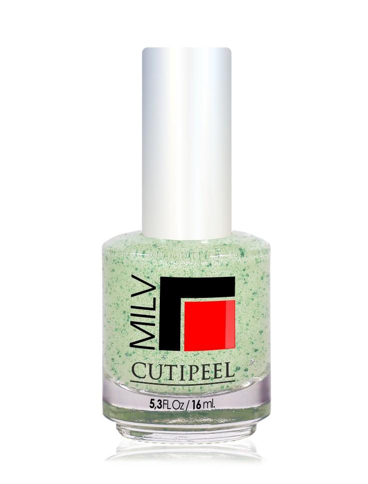 MILV Скраб удаления кутикулы  Зеленый чай  / Cutipeel 16млДля кутикулы<br>Скраб для ногтей  Зеленый чай . Средство - скраб для ногтей, кутикулы и ороговевшей кожи с увлажняющим эффектом. Мягко отшелушивает ороговевшие частички кутикулы и боковых валиков, придавая ногтям ухоженный и красивый вид, замедляет рост кутикулы, стимулирует кровообращение. Обладает приятным ароматом мяты. Способ применения: нанести на кутикулу, тщательно помассировать в течении 1 минуты, затем отодвинуть кутикулу. После того как закончите процедуру на всех пальцах, вымойте руки. Для комплексного подхода к уходу за ногтями рекомендуется нанести Витаминный гель для укрепления и роста ногтей.<br>