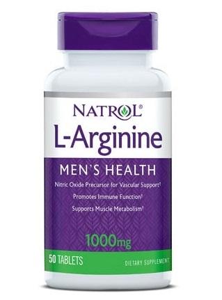 Купить NATROL Добавка биологически активная к пище Натрол L-Аргинин / L-Arginine 1000 мг 50 таблеток