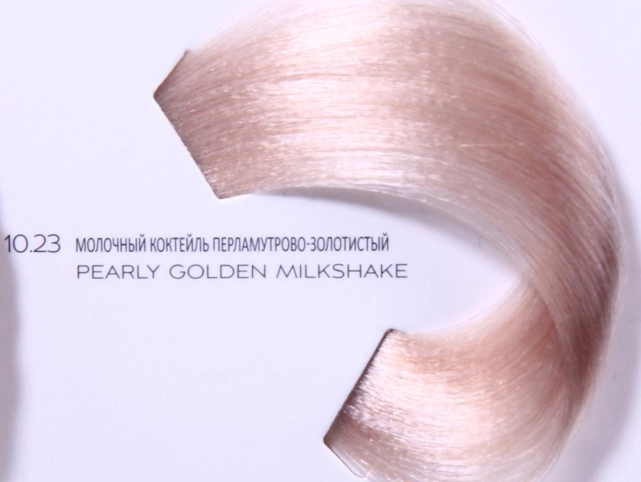 LOREAL PROFESSIONNEL 10.23 краска для волос / ДИАРИШЕСС 50млКраски<br>Крем-краска без аммиака 10.23 Молочный коктейль Перламутрово-Золотистый Richesse от LOreal Professionnel придаст вашим волосам мягкость и ослепительный блеск. Содержит микрокатионный полимер Ионен G, защищающий структуру волоса, липидную молекулу Incell, масло абрикосовых косточек, укрепляющее межклеточные связи, и Олео-элементы, насыщающие волосы питательными элементами. Новый полимер Topсoat образует на поверхности волоса особую защитную плёнку, которая отражает свет и обеспечивает ослепительный блеск надолго. Состав. Ионен G, Incell, масло абрикосовых косточек, Олео-элементы, полимер Topсoat Способ применения. Приготовление смеси: 50 мл. (тюбик) краски Richesse + 75 мл. проявителя Ришесс от Диаколор (2.7%). Пропорция 1:1,5. Нанесите смесь на сухие или влажные волосы, равномерно распределите и оставьте на 20 минут.<br><br>Цвет: Золотистый и медный<br>Объем: 50<br>Вид средства для волос: Укрепляющая