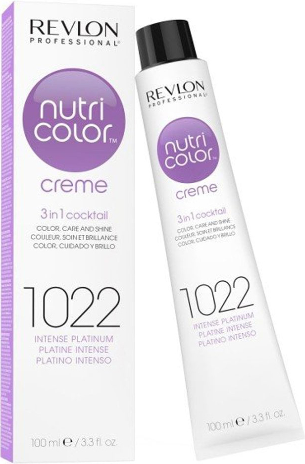 Купить REVLON PROFESSIONAL Крем-краска для прямого окрашивания 1022, интенсивный платиновый / Nutri Color Creme 100 мл, Платиновый