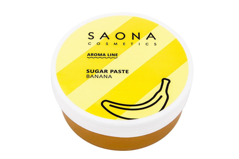 SAONA COSMETICS Паста сахарная для шугаринга, банановая / SPA BANANA 200 г -  Сахарные пасты
