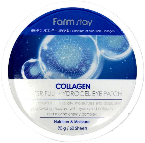 FARMSTAY Патчи гидрогелевые с коллагеном для области вокруг глаз / Collagen moistfull 60 шт фото