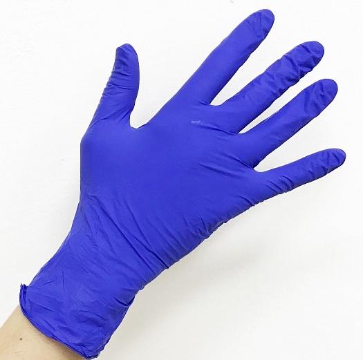 ЧИСТОВЬЕ Перчатки нитриловые фиолетовые L NitriMax 100 шт  - Купить