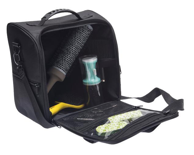 Купить DEWAL PROFESSIONAL Сумка для парикмахерских инструментов, полимерный материал, черная 29х29х18 см