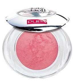 PUPA Румяна запеченные 103 Like A Doll Luminys Blush сатиновый розовый, 3,5грРумяна<br>Цвет - SATIN PINK. Мягкая шелковистая текстура, обогащенная мелкими драгоценными жемчужинками, подсвечивает кожу и придает лучезарность. Способ применения: подсвечивающий эффект рекомендуется для менее пористой, нормальной и сухой кожи, поскольку жемчужинки в составе румян делают поры заметнее. Низкий риск возникновения аллергии. Дерматологически тестированы. Без парабенов.<br><br>Объем: 3,5 гр