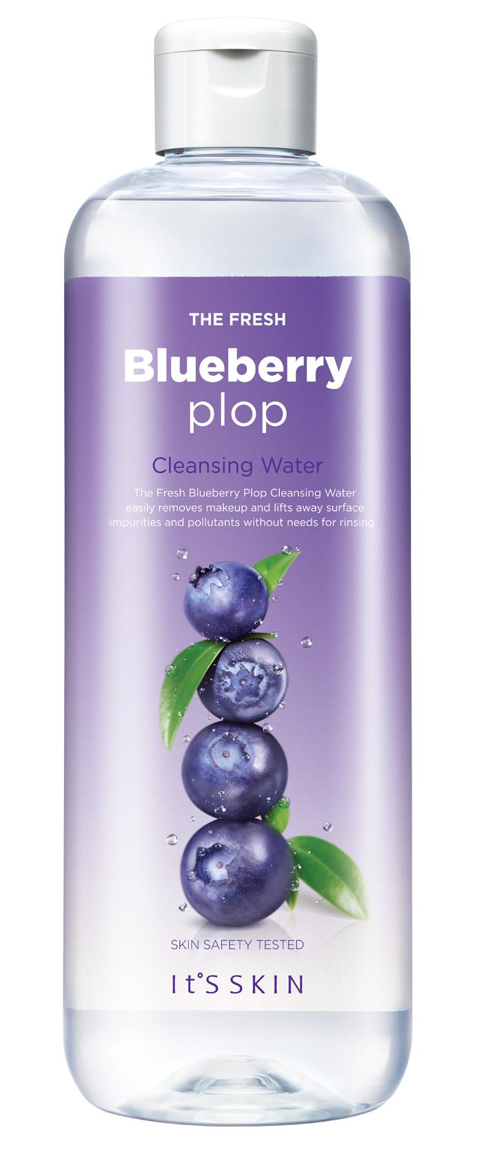 It'S SKIN Вода мицеллярная Фреш Плоп, черника / The Fresh Plop Cleansing Water Blueberry 520 мл