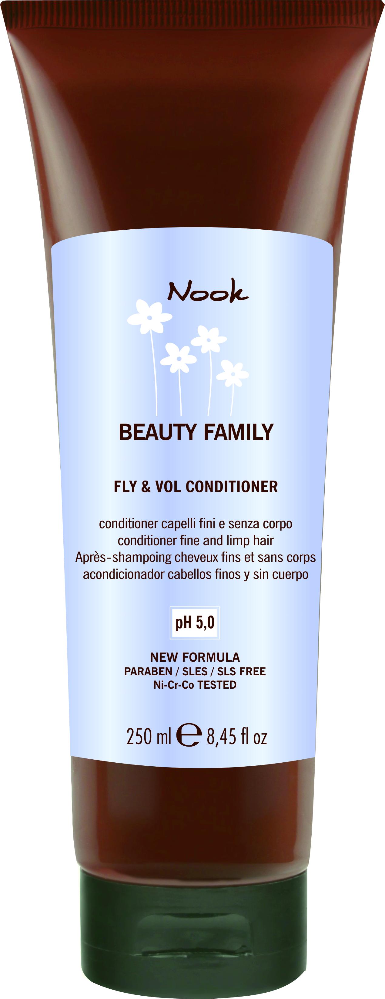 NOOK Кондиционер для тонких и слабых волос Ph 5,0 / Fly & Vol Conditioner BEAUTY FAMILY 250 мл