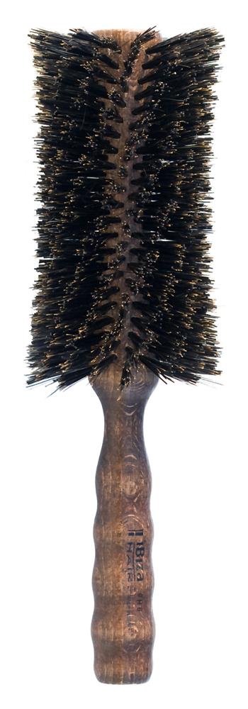 IBIZA HAIR Щетка круглая, закрученная, вогнутая для укладки волос, диаметр 80 мм (красное дерево)