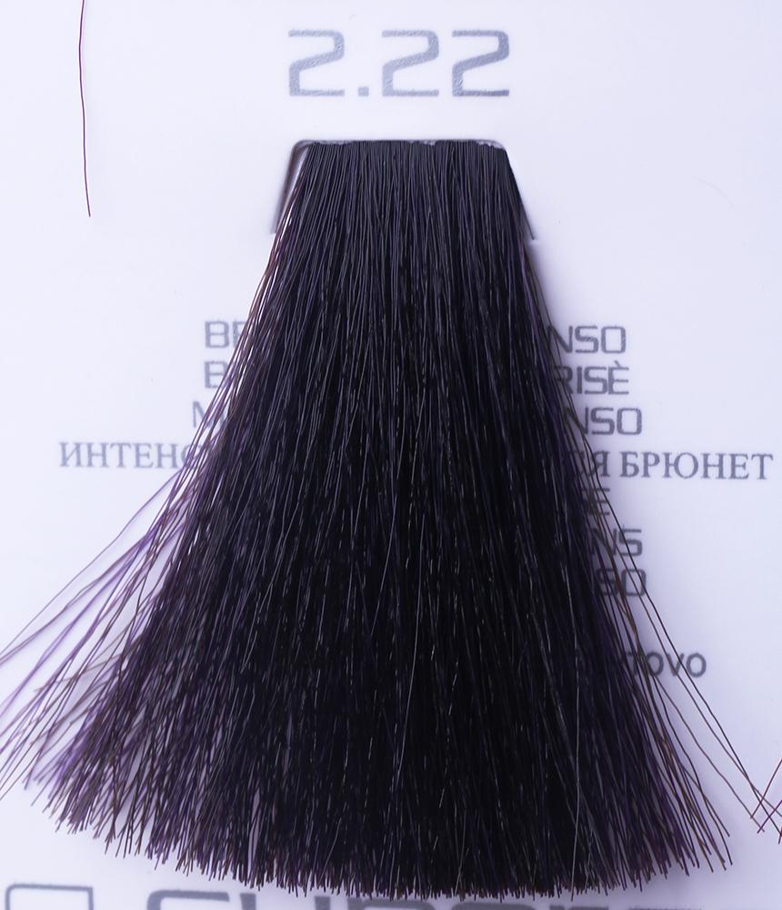 HAIR COMPANY 2.22 краска для волос / HAIR LIGHT CREMA COLORANTE 100млКраски<br>2.22 интенсивный искрящийся брюнетHair Light Crema Colorante   профессиональный перманентный краситель для волос, содержащий в своем составе натуральные ингредиенты и в особенности эксклюзивный мультивитаминный восстанавливающий комплекс. Минимальное количество аммиака позволяет максимально бережно относится к структуре волоса во время окрашивания. Содержит в себе растительные экстракты вытяжку из арахиса, лецитин, витамин А и Е, а так же витамин С который является природным консервантом цвета. Применение исключительно активных ингредиентов и пигментов высокого качества гарантируют получение однородного, насыщенного, интенсивного и искрящегося оттенка. Великолепно дает возможность на 100% закрасить даже стекловидную седину. Наличие 6-ти микстонов, а так же нейтрального бесцветного микстона, позволяет достигать получения цветов и оттенков. Способ применения: смешать Hair Light Crema Colorante с Hair Light Emulsione Ossidante в пропорции 1:1,5. Время воздействия 30-45 мин.<br><br>Цвет: Бежевый и коричневый<br>Вид средства для волос: Восстанавливающий<br>Класс косметики: Профессиональная
