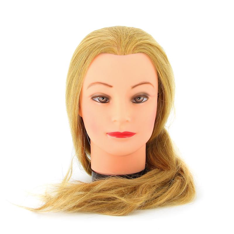 DEWAL PROFESSIONAL Голова учебная блондинка, натуральные волосы 50-60см манекен голова для причесок оптом