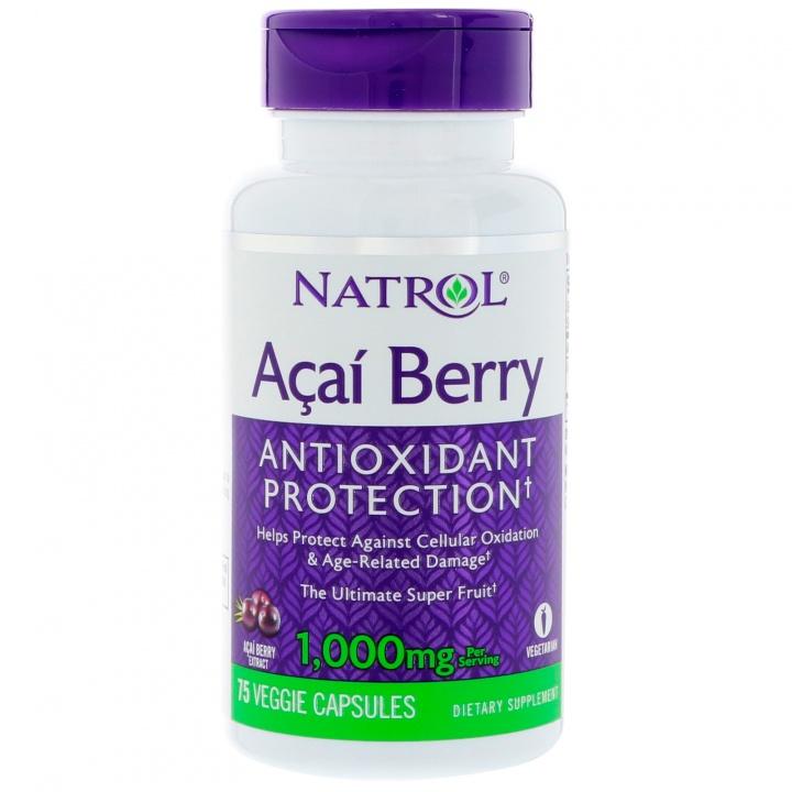 Купить NATROL Добавка биологически активная к пище Натрол асайберри / AcaiBerry 1000 мг 75 капсул
