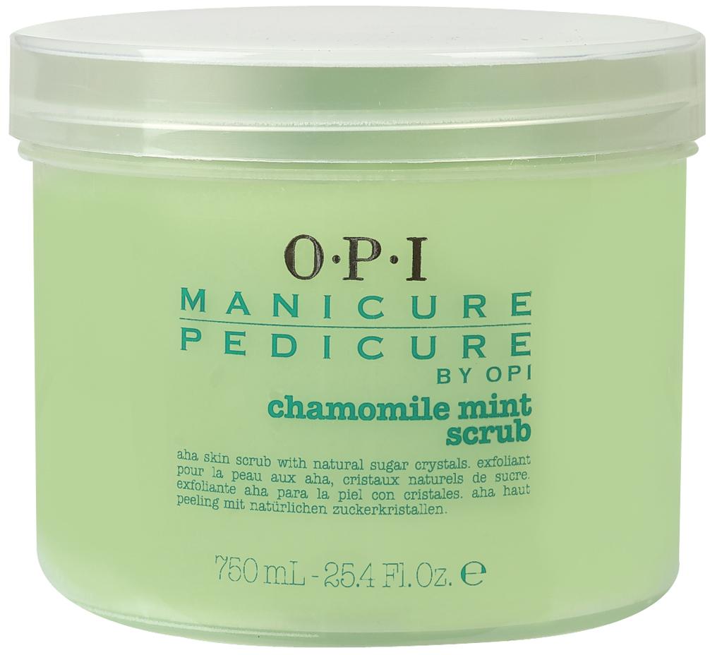 OPI Скраб для рук и ног Ромашка-мята / Manicure-Pedicure Chamomile Mint Scrub 750мл