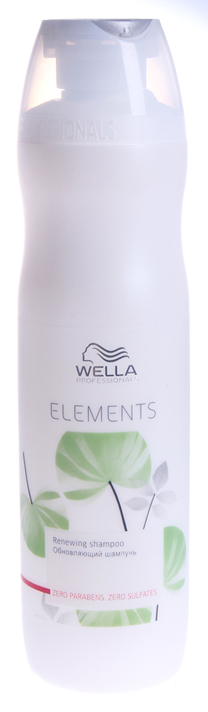 WELLA Шампунь обновляющий / ELEMENTS 250млШампуни<br>Обновляющий шампунь Elements. Продукт не содержит сульфатов, парабенов и искусственных красителей. Шампунь очищает волосы, восстанавливает естественную влагу. Содержит древесный экстракт, который защищает кератин в структуре волоса. Подходит для всех типов волос, особенно для поврежденных. Активные ингредиенты: натуральный древесный экстракт. Способ применения: нанести достаточное количество на волосы мягкими массажными движениями, вспенить. Тщательно смыть.<br>