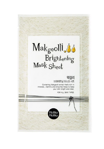 HOLIKA HOLIKA Маска тканевая для лица с экстрактом Макголли / GWP Makgeolli Brightening Mask Sheet, 20 мг маска holika holika aloe 99% soothing gel jelly mask sheet