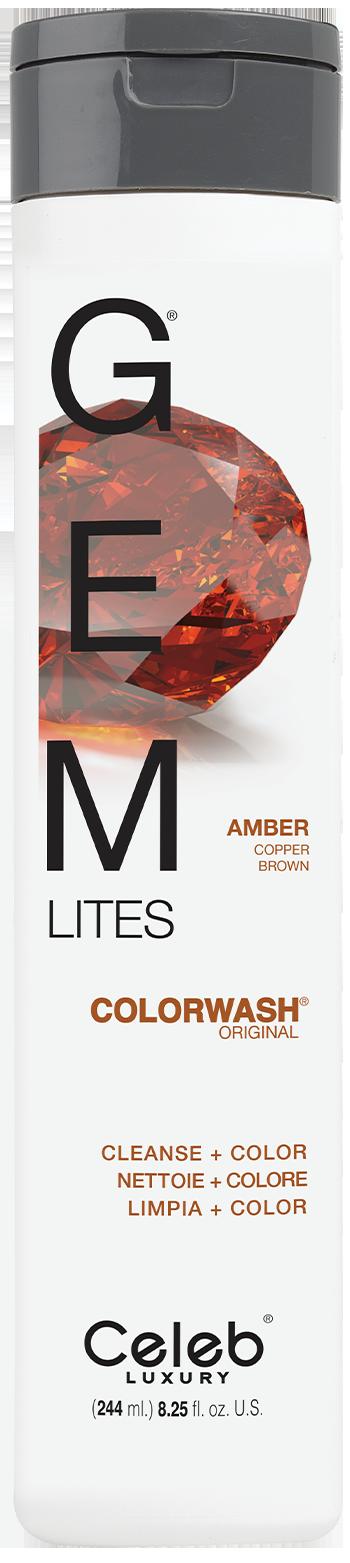 Купить CELEB LUXURY Шампунь для яркости цвета, темный янтарь / Gem Lites Shampoo Amber 244 мл