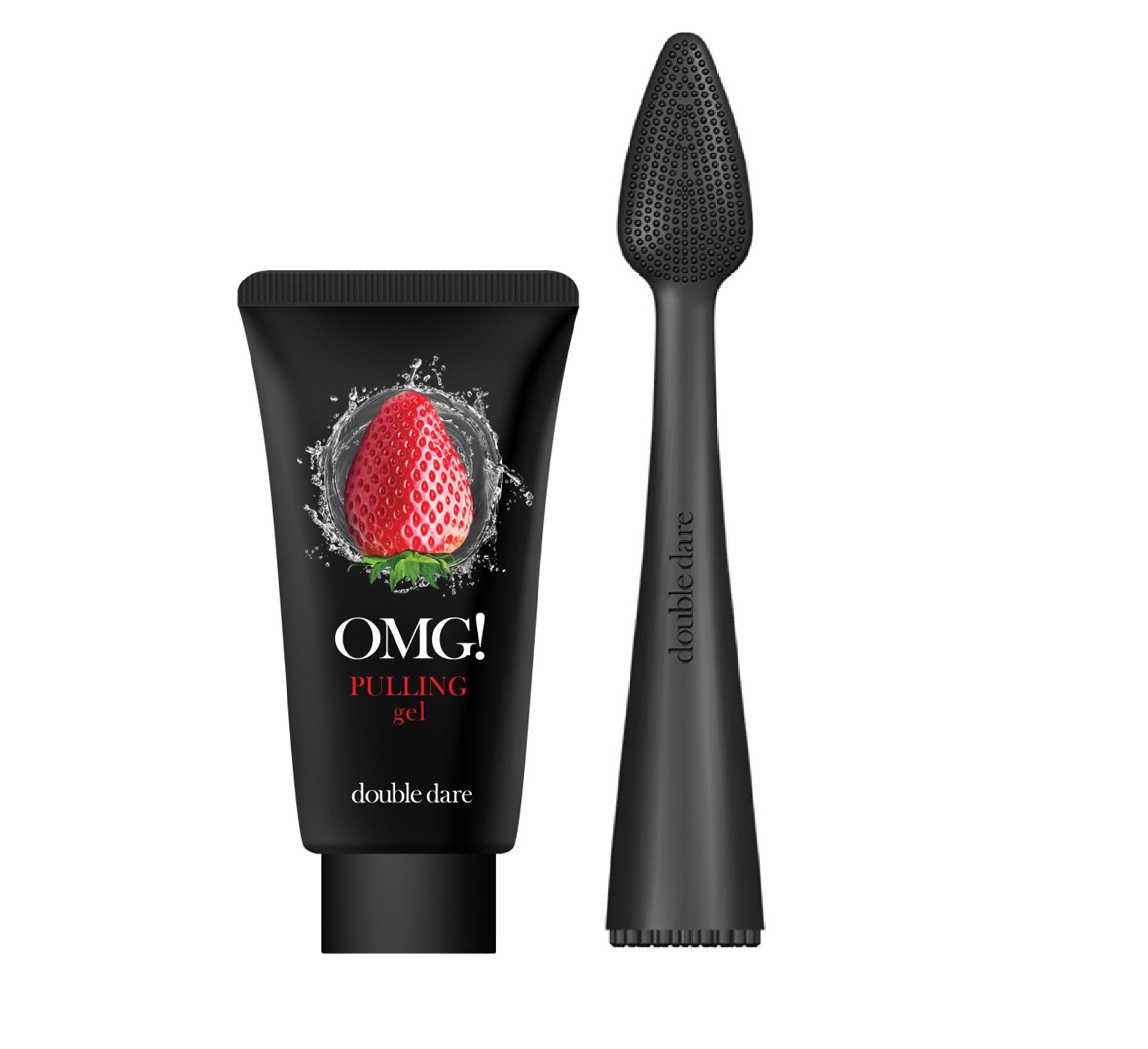 Купить DOUBLE DARE OMG! Набор для лица от чёрных точек (пилинг-гель 30 мл + массажная щёточка) OMG! I.M. Buddy Mini Brush