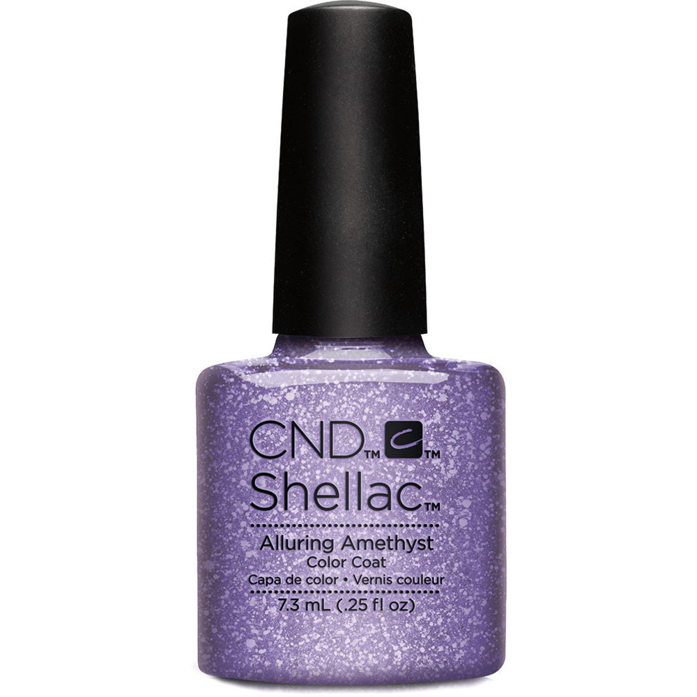 CND 91263 покрытие гелевое / Alluring Amethyst SHELLAC Starsrtuck 7,3 мл cnd 058a покрытие гелевое steel gaze shellac 7 3мл