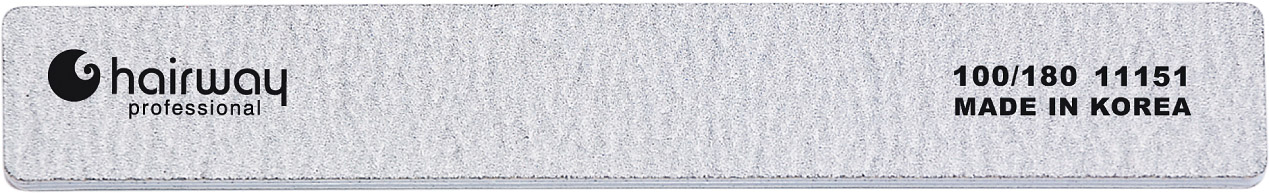 HAIRWAY Пилка Hairway широкая,зебра 100/180(11031)