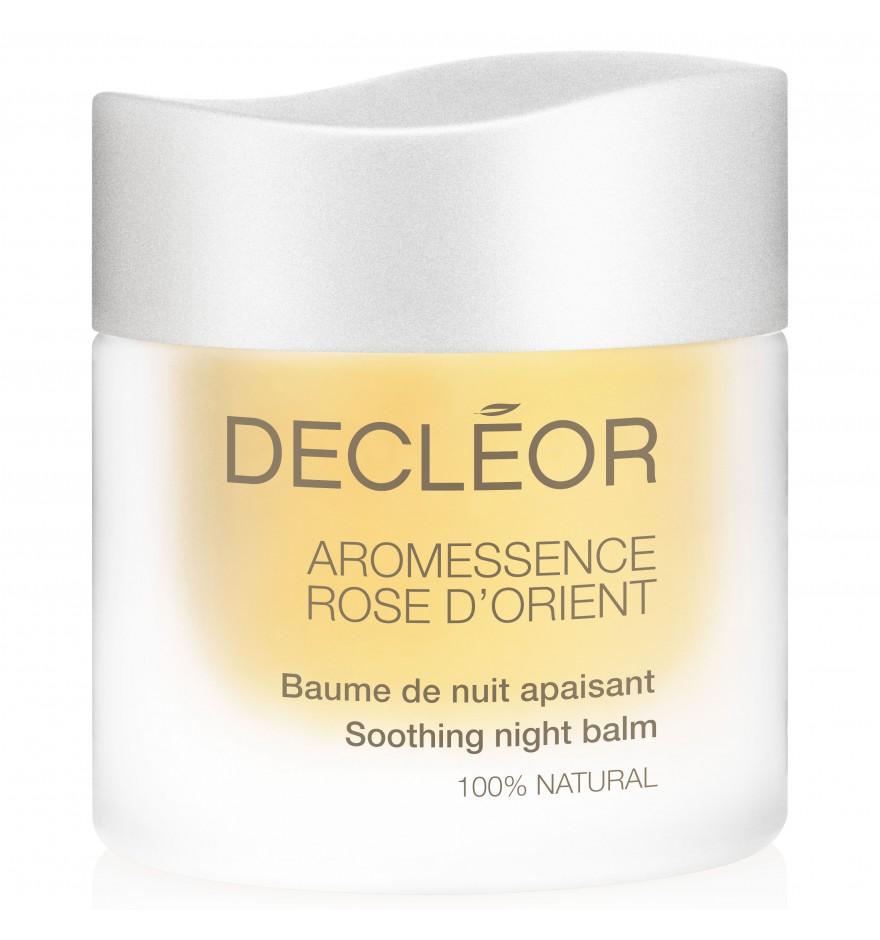 DECLEOR Бальзам успокаивающий ночной Роуз / HARMONIE CALM ROSE DORIENT 15млБальзамы<br>100% натуральный успокаивающий ночной бальзам для интенсивного восстановления кожи. Этот нежный бальзам устраняет раздражения,питает кожу, разглаживает, снижает реактивность кожи, смягчает, борется с признаками старения, активизирует клеточный обмен и регенерацию. РЕЗУЛЬТАТ: питает, смягчает и успокаивает, препятствует обезвоживанию, защищает от свободных радикалов. Кожа нежная, без покраснений и раздражений. Способ применения: применяется ежедневно вечером после полного очищения лица. Горошину бальзама разогрейте в ладонях, вдохните аромат и нанесите на предварительно очищенные лицо, шею и декольте легкими помпажными движениями.<br><br>Объем: 15 мл<br>Типы кожи: Чувствительная