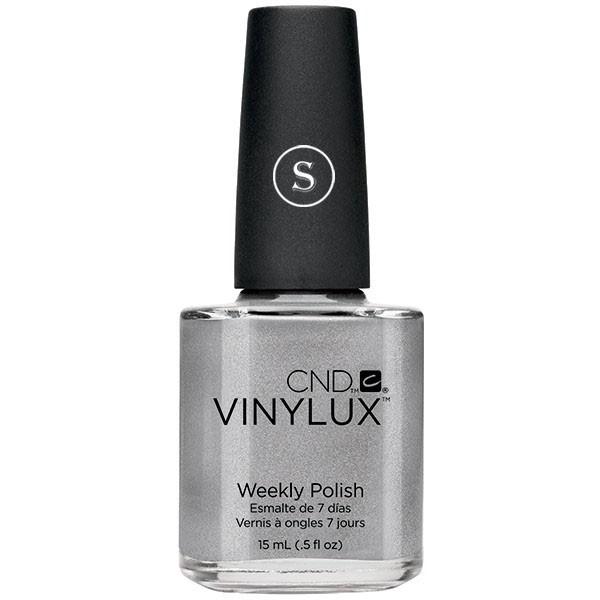 CND 148 лак недельный для ногтей Silver Chrome / VINYLUX 15мл cnd 154 лак недельный для ногтей tropix vinylux 15мл
