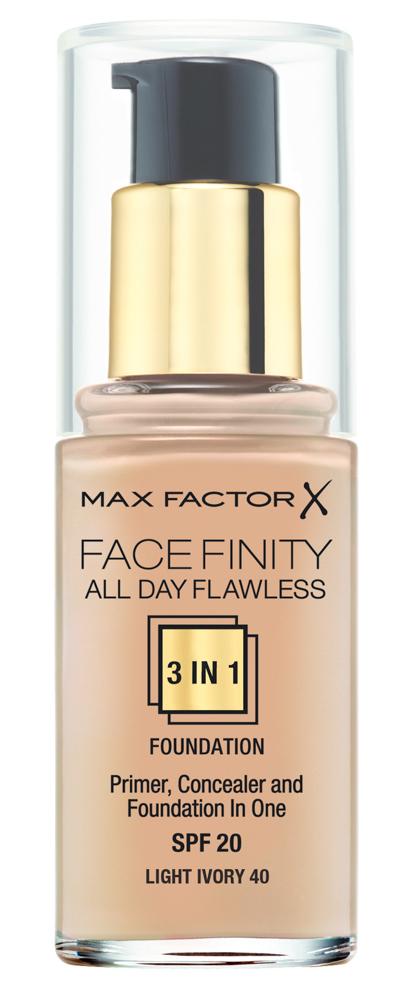 Купить MAX FACTOR Основа тональная 40 / Facefinity All Day Flawless 3-in-1 light ivory