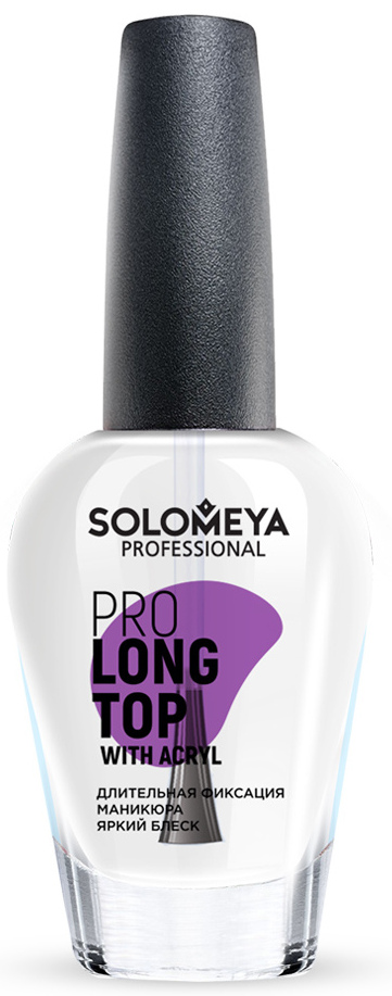 SOLOMEYA Покрытие топовое с акрилом / Pro Long Top with Acryl 14 мл - Верхние покрытия